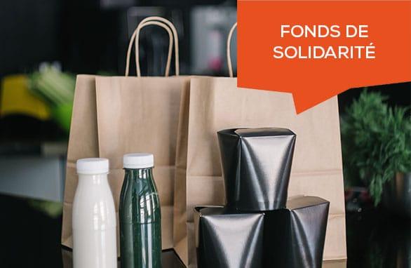 fonds de solidarité vente à emporter