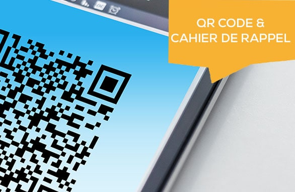 QR Code & cahier de rappel